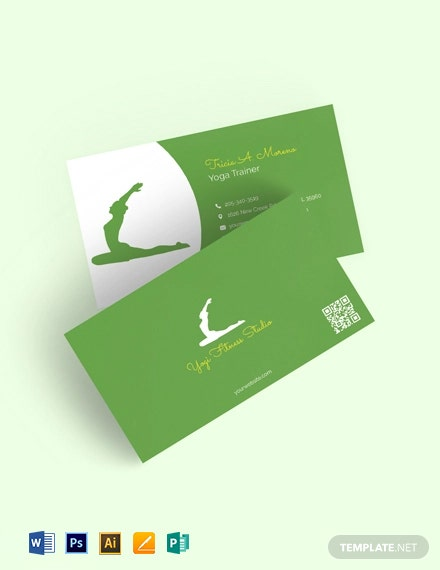 Yoga & Spa Studio Business Card Template