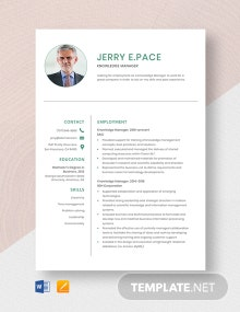 Knowledge Manager Resume Template