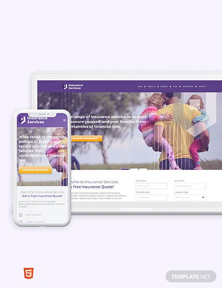 Insurance Agency Bootstrap Landing Page Template