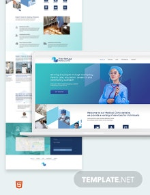 Medical Clinic Bootstrap Landing Page Template
