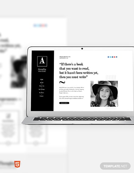 Author & Writer Bootstrap Landing Page Template