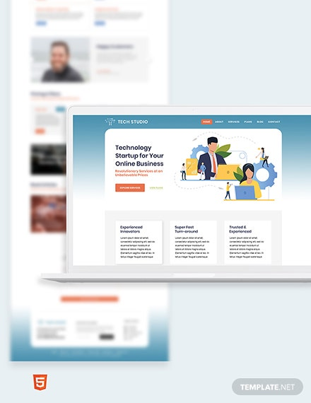 Tech Startup Bootstrap Landing Page Template