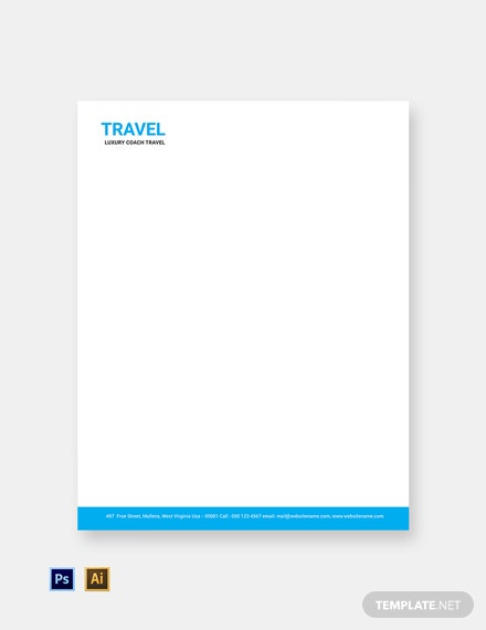 Free Travel Agency Letterhead Template