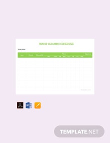 Free House Cleaning Schedule Template
