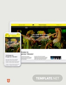 Theater Bootstrap Landing Page Template