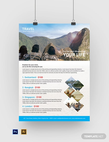 Free Travel Agency Poster Template