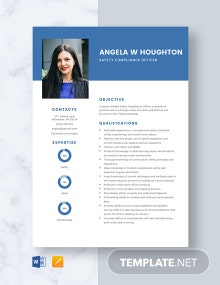Safety Compliance Officer Resume Template