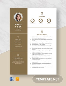 Safety Consultant Resume Template