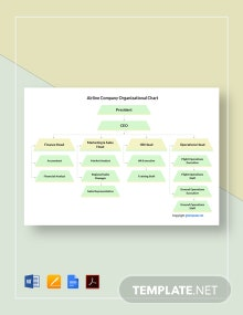 Free Airline Company Organizational Chart Template
