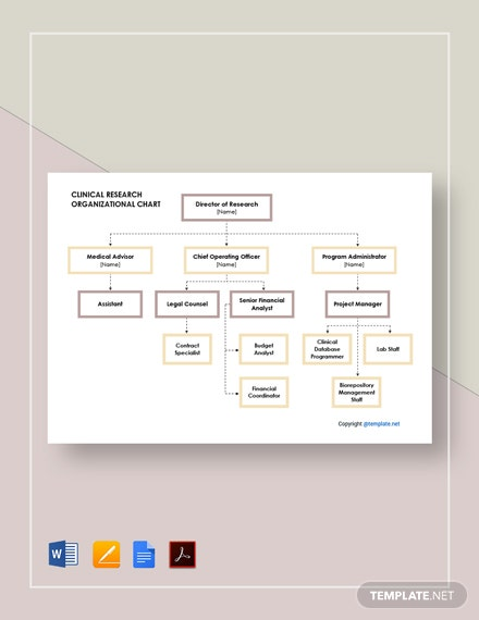 Free Clinical Research Organizational Chart Template