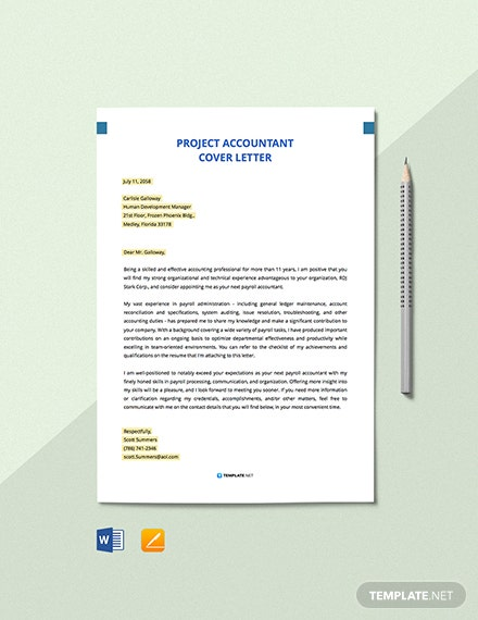 Free Payroll Accountant Cover Letter Template - Word | Apple ...