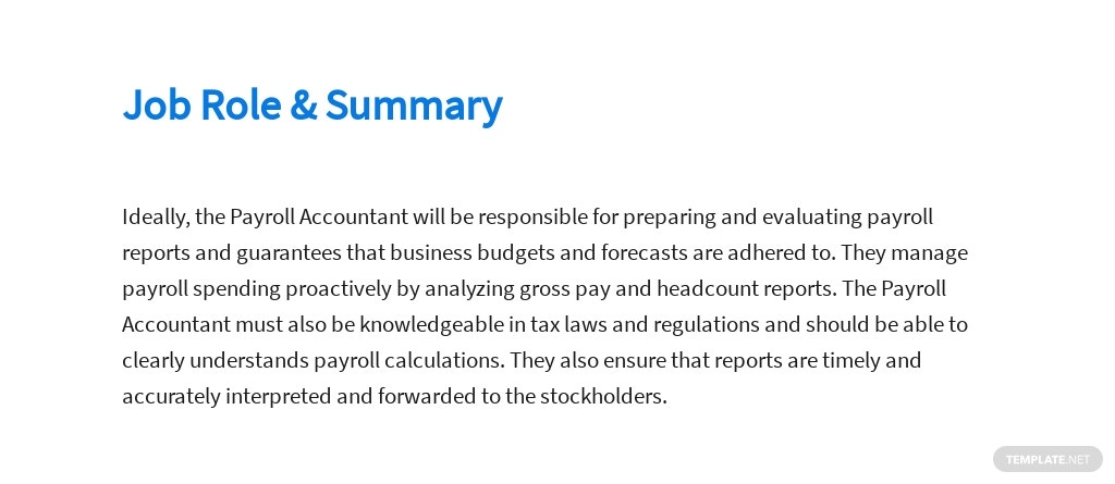 Free Payroll Accountant Job Description Template 2.jpe