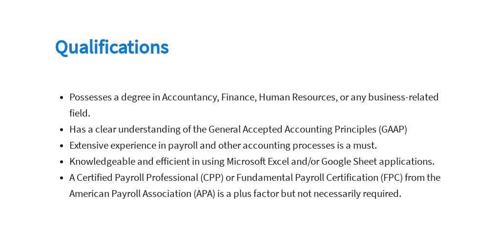 Free Payroll Accountant Job Description Template 5.jpe