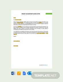 Free Project Accountant Cover Letter Template