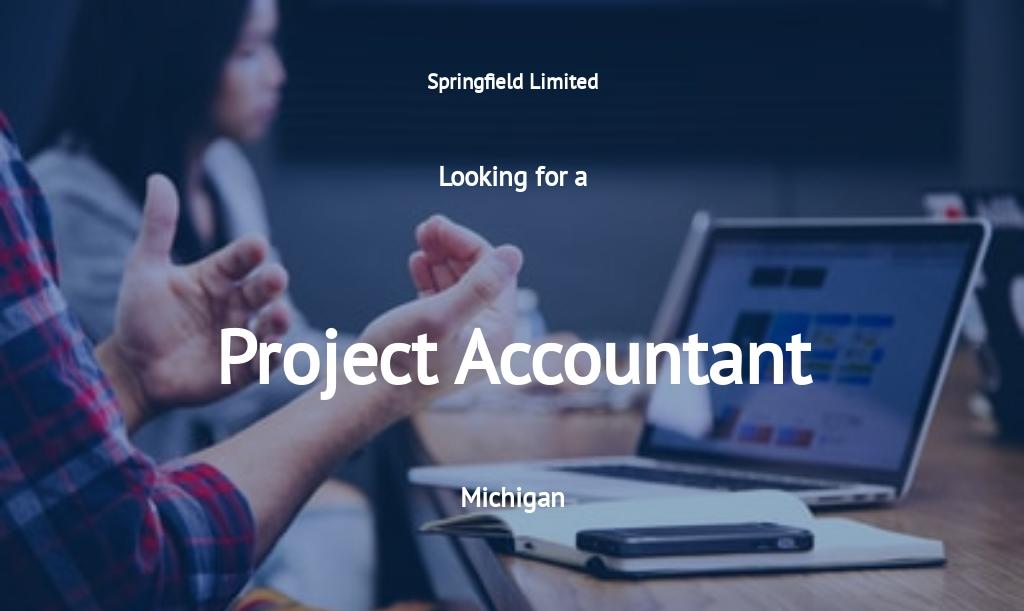 Project Accountant Job Ad/Description Template