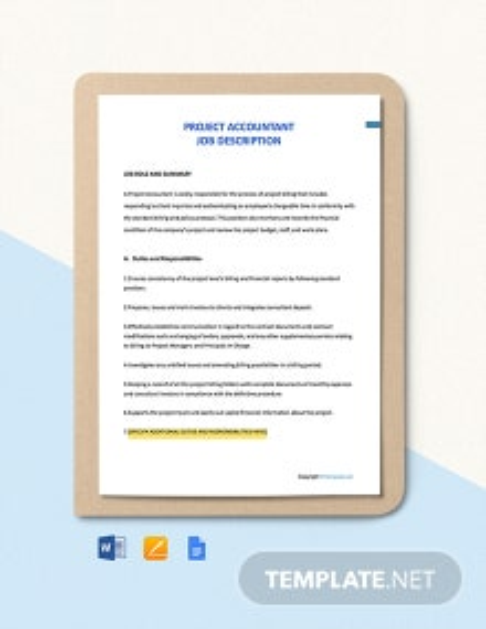Free Project Accountant Job Ad/Description Template