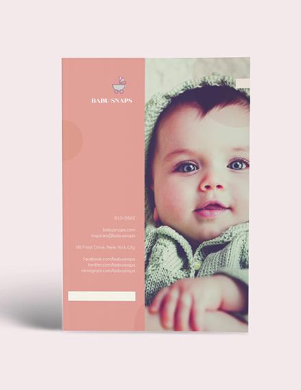 Custamize Baby Photography Magazine
