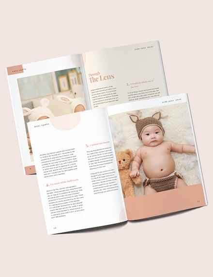 Sample Baby Photography Magazine