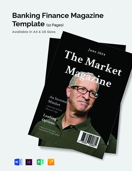 Banking & Finance Magazine Template