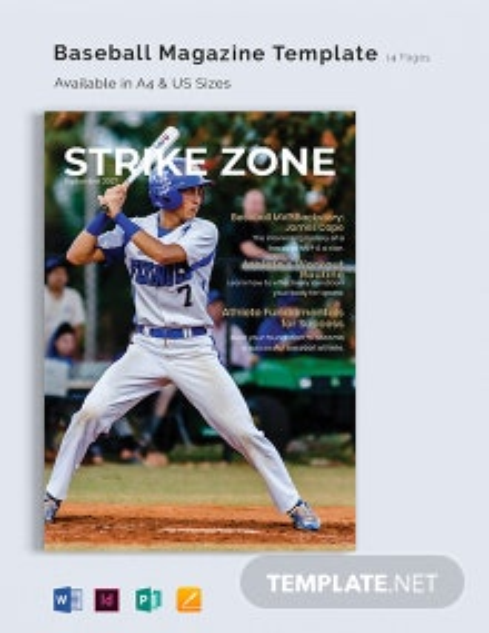 Baseball Magazine Template