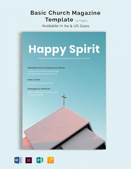 basic church magazine template