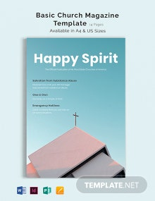 Basic Church Magazine Template