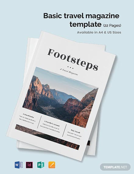 Basic Travel Magazine Template