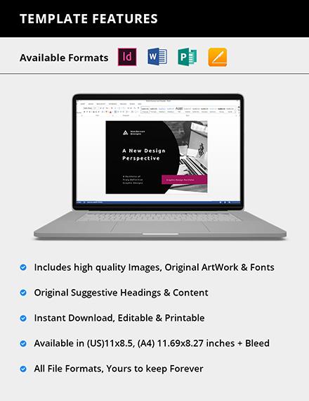 Editable Graphic Design Portfolio