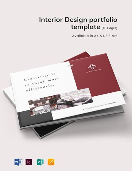 Interior Design Portfolio Template