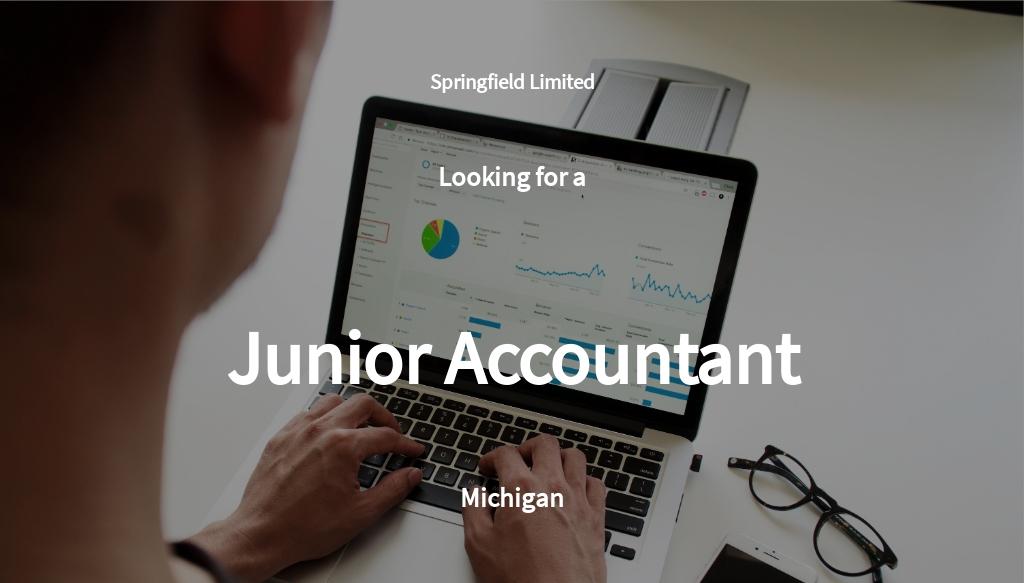 Free Junior Accountant Job Ad/Description Template.jpe