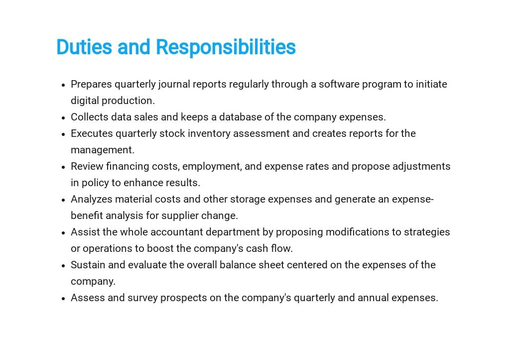 Free Cost Accountant Job Ad/Description Template 3.jpe