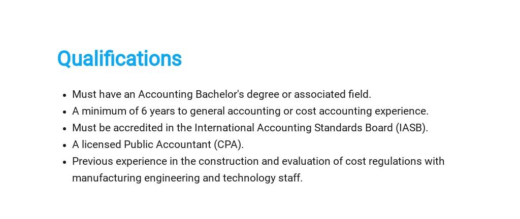 Free Cost Accountant Job Ad/Description Template 5.jpe