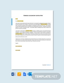 Free Forensic Accountant Cover Letter Template
