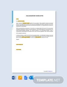 Free Tax Accountant Cover Letter Template