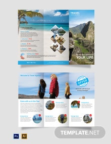 Free Travel Agency Tri-Fold Brochure Template