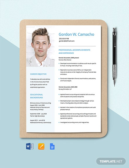 Forensic Accountant Resume Template
