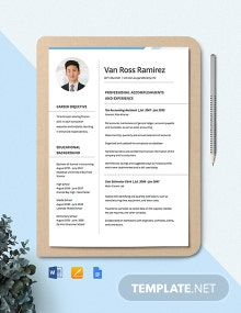 Tax Accountant Resume Template