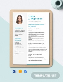 Staff Accountant Resume Template