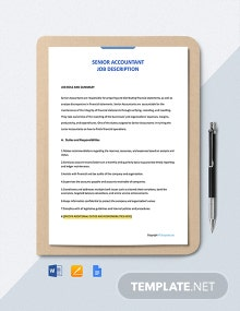 Free Senior Accountant Job Ad/Description Template