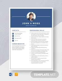 Safety Technician Resume Template