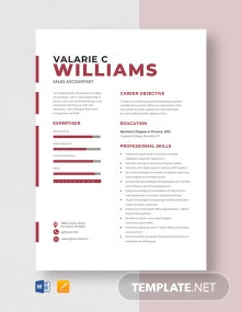 Sales Accountant Resume Template