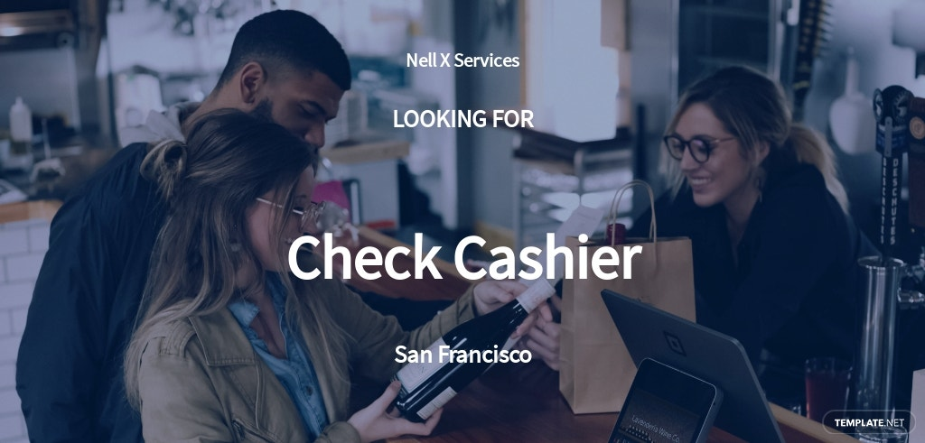 Check Cashier Job Description Template