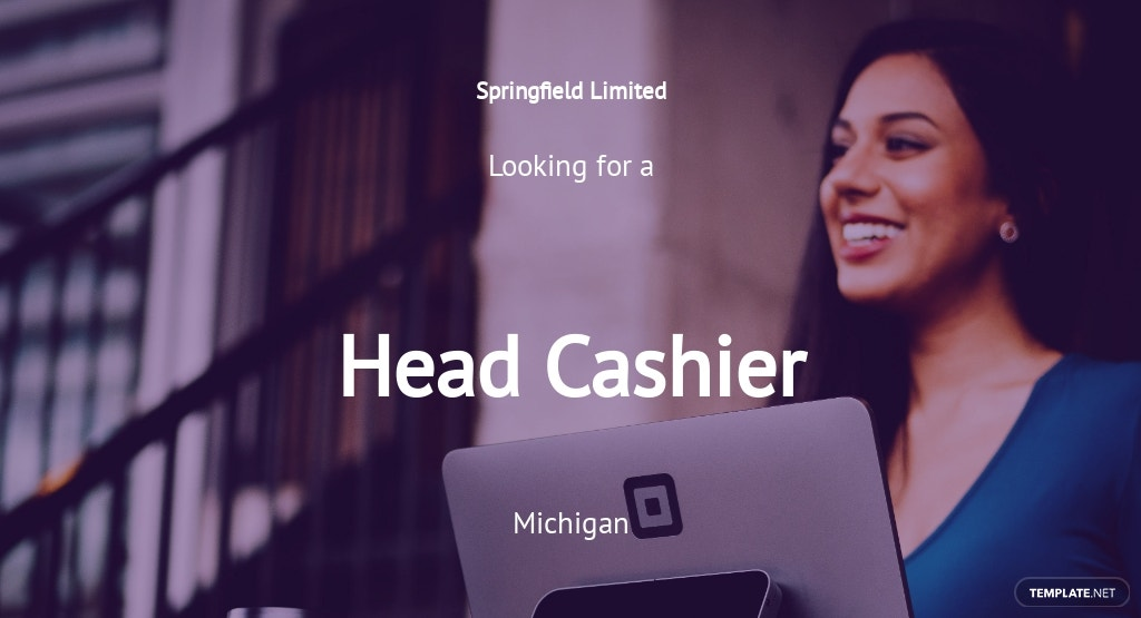 Head Cashier Job Ad/Description Template