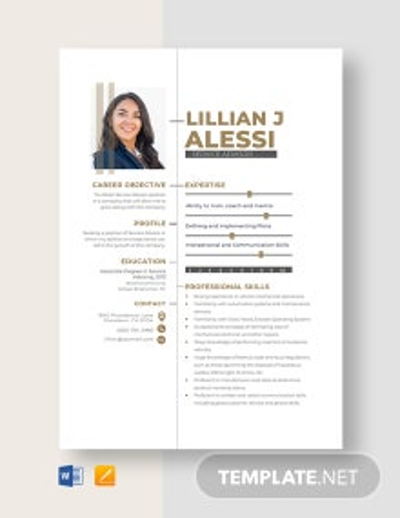 Service Advisor Resume Template