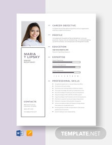 Service Receptionist Resume Template