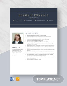 Service Writer Resume Template