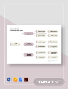 Basic Manufacturing Organizational Chart Template