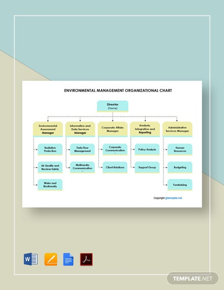 Free Environmental Management Organizational Chart Template