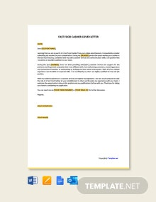 Free Fast Food Cashier Cover Letter Template