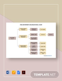 Free Fire Department Organizational Chart Template